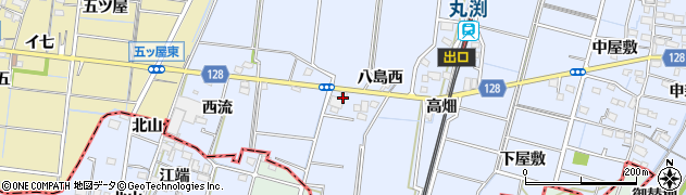 愛知県稲沢市祖父江町三丸渕(中通り)周辺の地図
