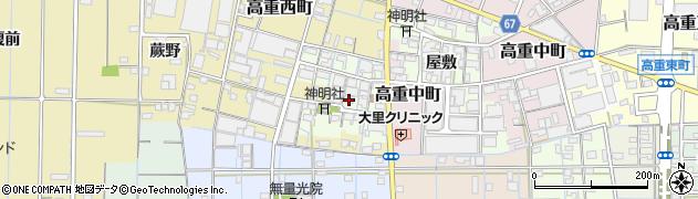 愛知県稲沢市高重町(郷クロ)周辺の地図
