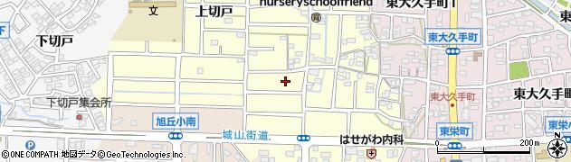 愛知県尾張旭市大久手町周辺の地図