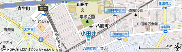 愛知県名古屋市西区八筋町周辺の地図
