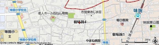愛知県名古屋市北区楠味鋺4丁目周辺の地図