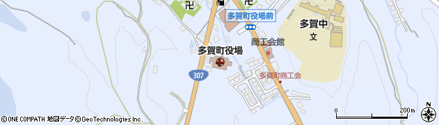 滋賀県犬上郡多賀町周辺の地図