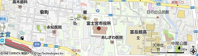 静岡県富士宮市周辺の地図