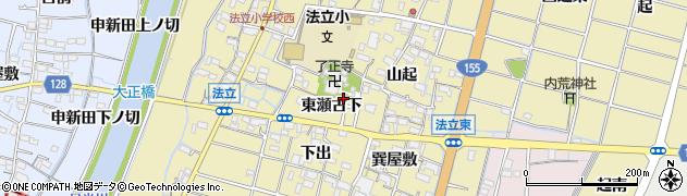 愛知県稲沢市平和町法立(東瀬古下)周辺の地図