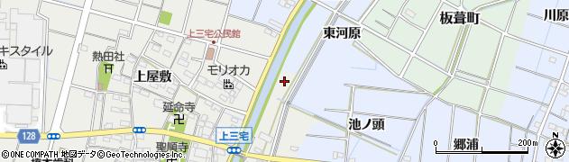 愛知県稲沢市平和町上三宅(芳山)周辺の地図
