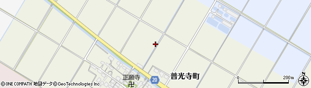 滋賀県彦根市普光寺町周辺の地図
