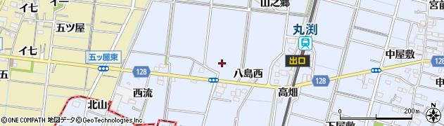 愛知県稲沢市祖父江町三丸渕(駅通)周辺の地図