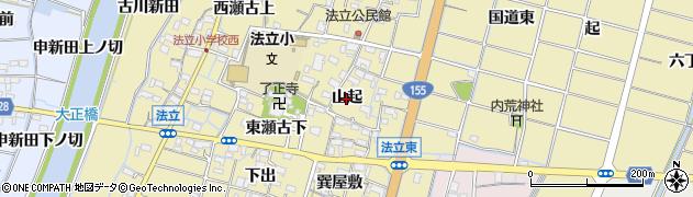 愛知県稲沢市平和町法立(山起)周辺の地図