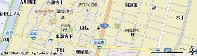 愛知県稲沢市平和町法立(東法立)周辺の地図