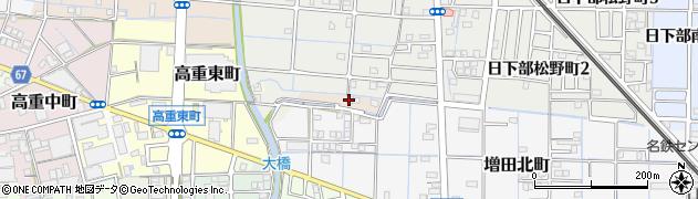 愛知県稲沢市増田町(江越)周辺の地図