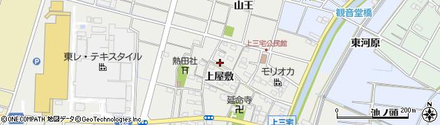 愛知県稲沢市平和町上三宅周辺の地図