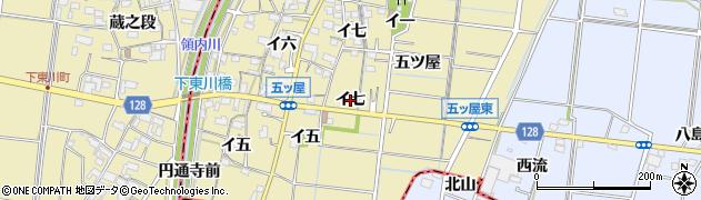 愛知県稲沢市祖父江町甲新田(イ七)周辺の地図