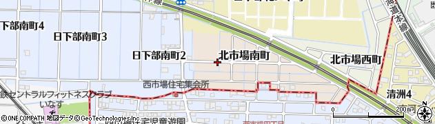 愛知県稲沢市北市場南町周辺の地図