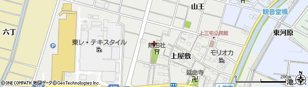 愛知県稲沢市平和町上三宅(上屋敷)周辺の地図