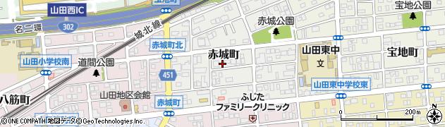 愛知県名古屋市西区赤城町周辺の地図