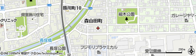 愛知県春日井市森山田町周辺の地図