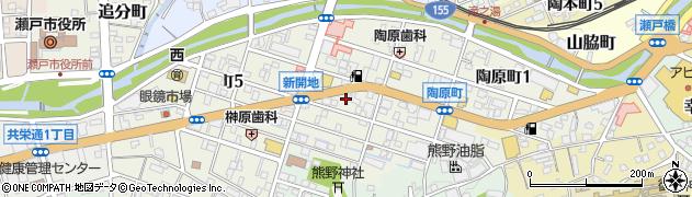 愛知県瀬戸市陶原町周辺の地図