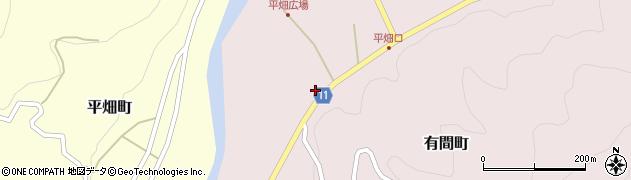 愛知県豊田市有間町(竹ノ下)周辺の地図