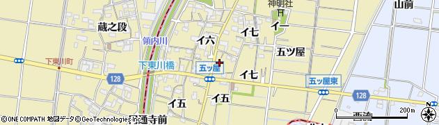 愛知県稲沢市祖父江町甲新田周辺の地図