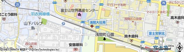 富士山 神田川楽座周辺の地図