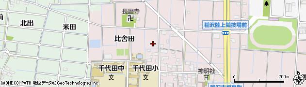 愛知県稲沢市福島町周辺の地図