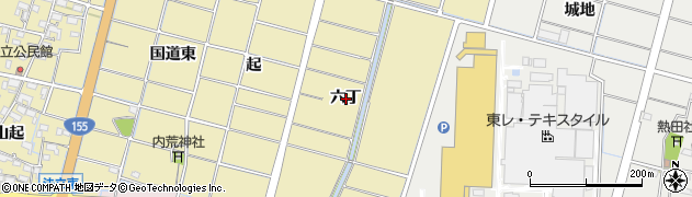 愛知県稲沢市平和町法立(六丁)周辺の地図