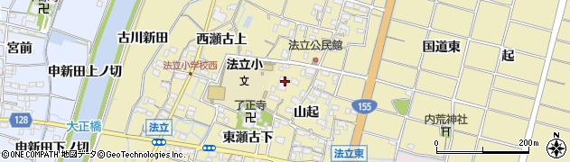 愛知県稲沢市平和町法立(東瀬古)周辺の地図