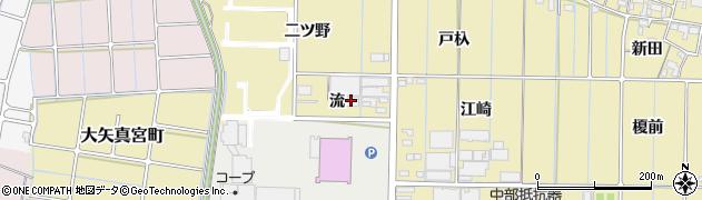 愛知県稲沢市北島町(流)周辺の地図