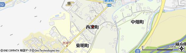 愛知県瀬戸市西窯町周辺の地図