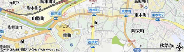愛知県瀬戸市銀杏木町周辺の地図
