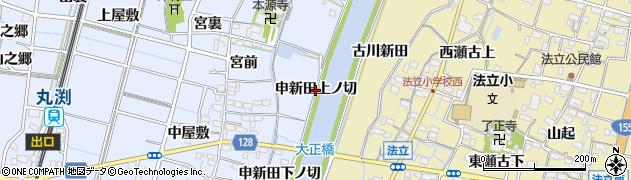 愛知県稲沢市祖父江町三丸渕(申新田上ノ切)周辺の地図