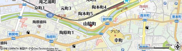 愛知県瀬戸市山脇町周辺の地図
