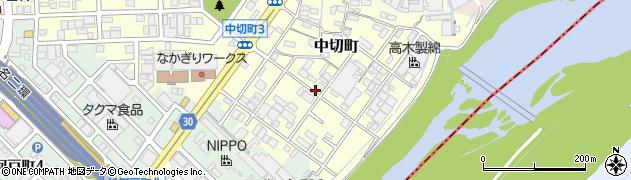 愛知県春日井市中切町周辺の地図