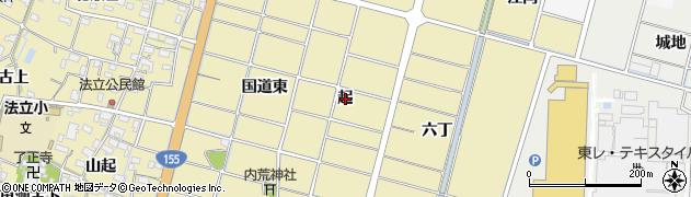 愛知県稲沢市平和町法立(起)周辺の地図