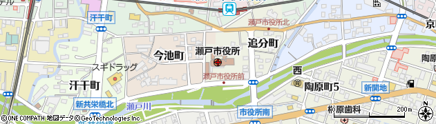 愛知県瀬戸市周辺の地図