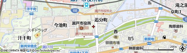 愛知県瀬戸市追分町周辺の地図