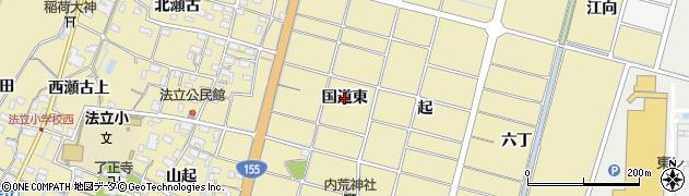 愛知県稲沢市平和町法立(国道東)周辺の地図