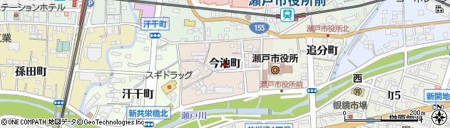 愛知県瀬戸市今池町周辺の地図