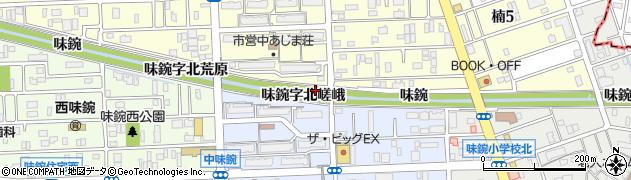愛知県名古屋市北区楠町味鋺字北嵯峨周辺の地図