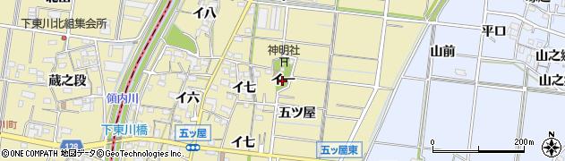 愛知県稲沢市祖父江町甲新田(イ一)周辺の地図