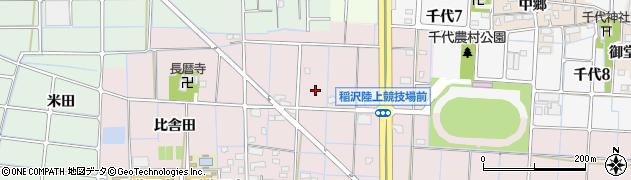 愛知県稲沢市福島町(大福寺)周辺の地図
