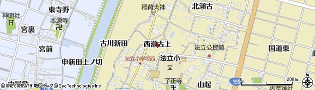 愛知県稲沢市平和町法立(西瀬古上)周辺の地図