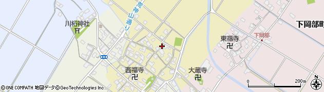 滋賀県彦根市下西川町周辺の地図