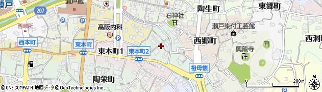 愛知県瀬戸市蛭子町周辺の地図