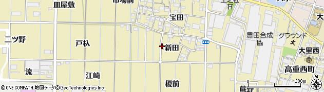 愛知県稲沢市北島町(新田)周辺の地図