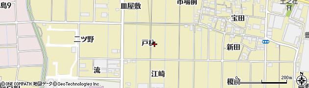 愛知県稲沢市北島町(戸杁)周辺の地図