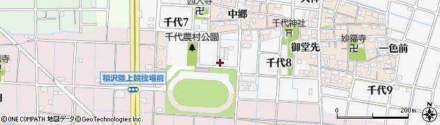 愛知県稲沢市千代周辺の地図