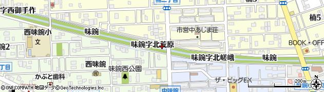 愛知県名古屋市北区楠町(味鋺字北荒原)周辺の地図