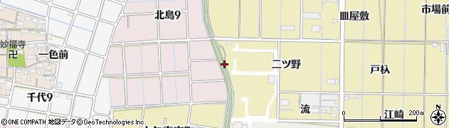 愛知県稲沢市北島町(越円堂)周辺の地図