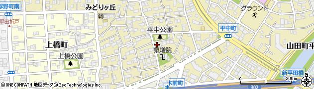 愛知県名古屋市西区平中町周辺の地図